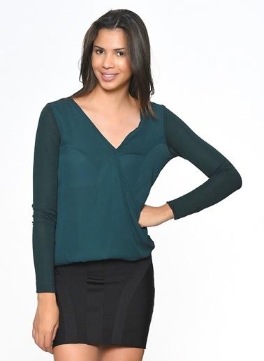 Only Uzun Kollu Bluz Yeşil